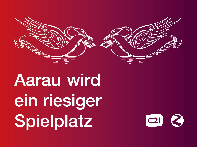 Aarau wird ein riesiger Spielplatz - Die Schwänin